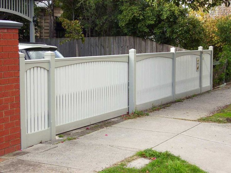 paint capped picket fence - Google Search