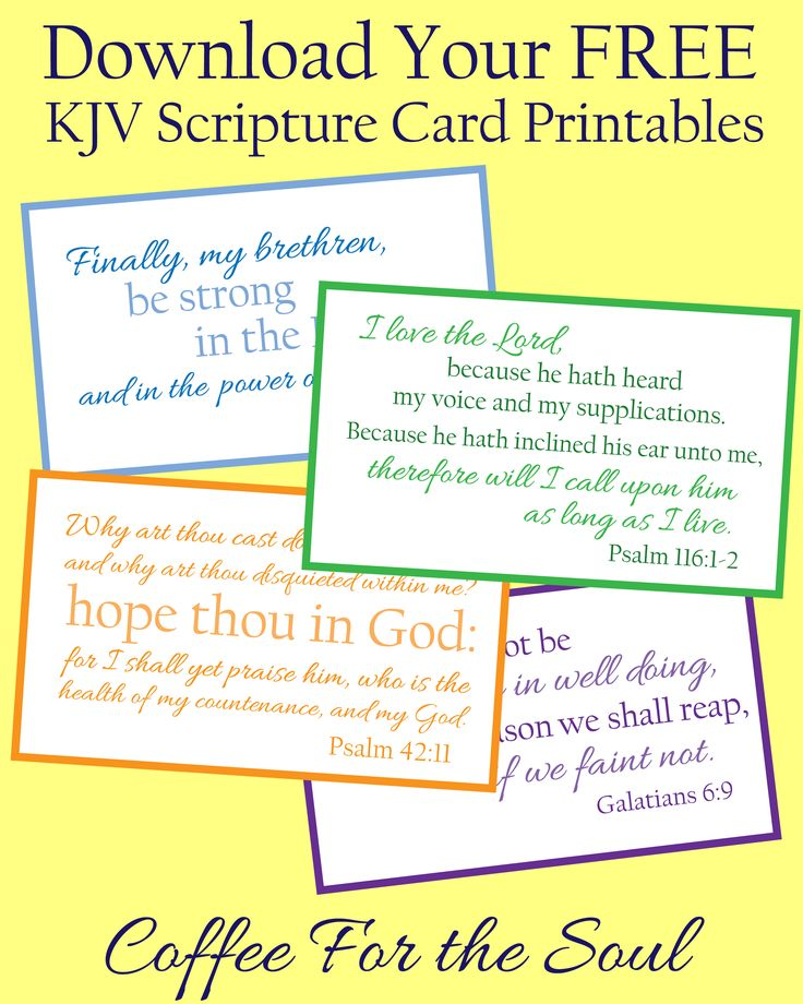 This is a picture of Unusual Free Printable Scripture Cards