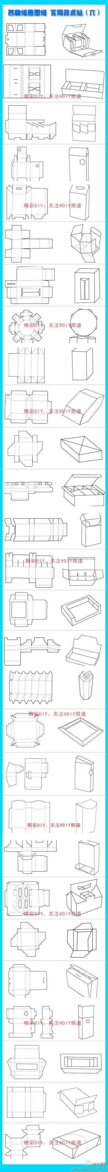 Templates multiples de boîtes ou autres, pliage