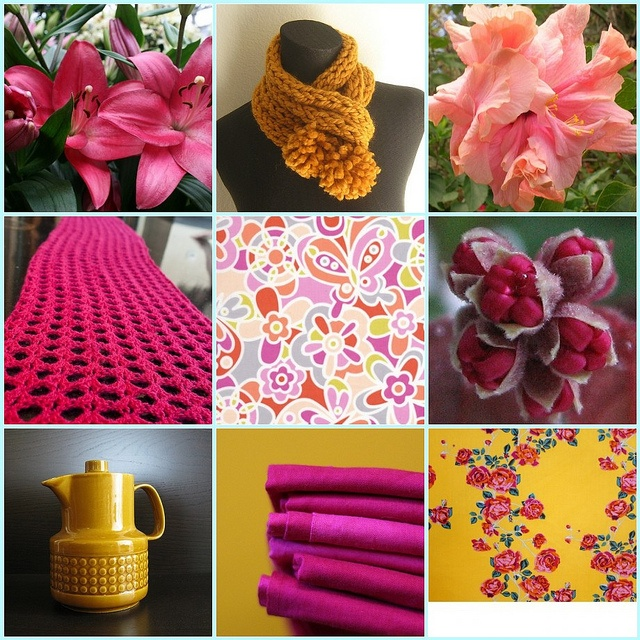 Image result for pink and mustard