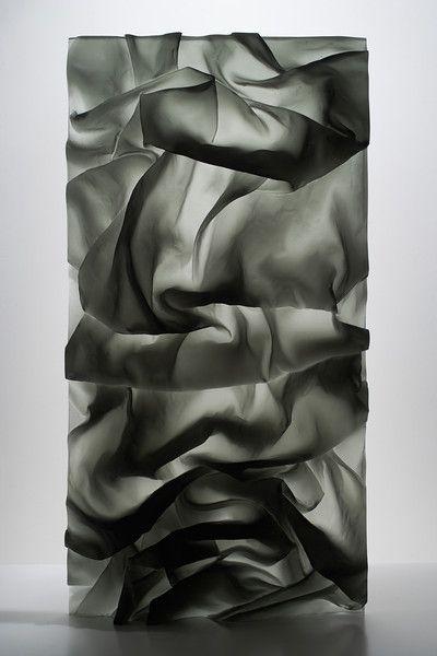 Ink in Water Drapery Study by Karen La Monte