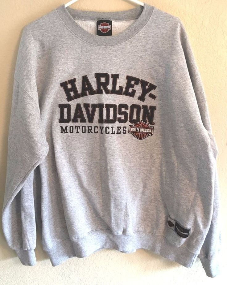 Harley Davidson Sweatshirt Latus Motors Gladstone Oregon Embroidery Large Gray #HarleyDavidson #SweatshirtCrew