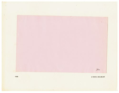 yvesColors Paper, Klein Pink, Colors Plates, Include Ten, Booklet Include, Plates Tipped In, Paper System, 1954 Booklet, Ten Colors