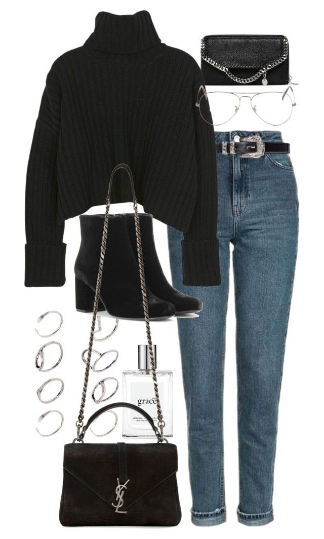 """""""Untitled #9952"""" by nikka-phillips ❤ liked on Polyvore featuring STELLA McCARTNEY, Topshop, philosophy, ASOS, Ray-Ban and Yves Saint Laurent"""