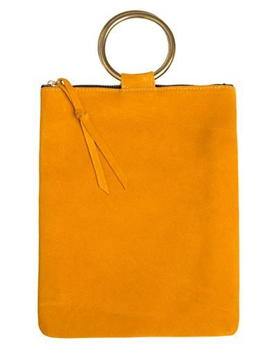 Laine brass ring bag in marigold suede leather   Style   Pinterest ... 81e5c1c5d1