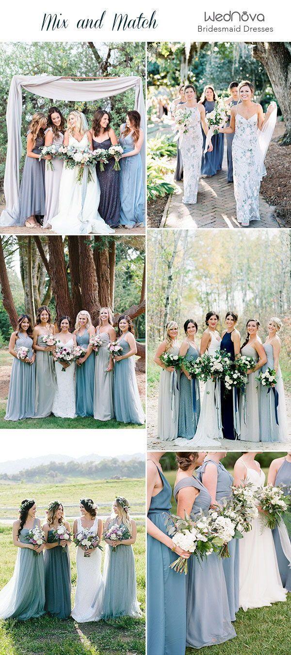 14 Mismatched Bridesmaid Dresses Color Palettes From Real Weddings Mixed Bridesmaid Dresses Bridesmaid Dresses Different Colors Bridesmaid Dresses Color Palette