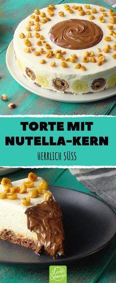 Torte mit Nutella-Kern Wunderschöne süße #mascarpone #ferrero #nutella #torte #reze …   – Küche