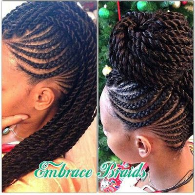 black hairstyles | box braids | box braid updo | braided black hairstyles | black updo hairstyle   http://www.hairstylo.com/2015/07/black-hairstyles.html