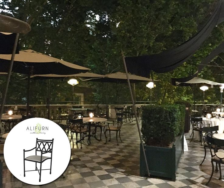 Add outdoor dining chairs with geometric shapes and simple lines to create an eye-catching arrangement on your patio… #OutdoorFurniture #PimpYourPatio