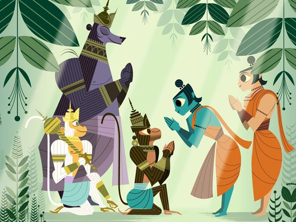 Amazing Illustrations by Sanjay Patel for one of my all time favourite tales