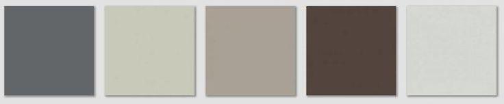 Rockport Gray complements: Stormy Sky, Vale Mist, Rockport Gray, Mink, Alaskan Husky