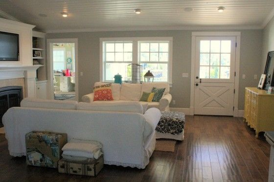 Entryway solution when the front door opens straight into the living room Entryway Pinterest