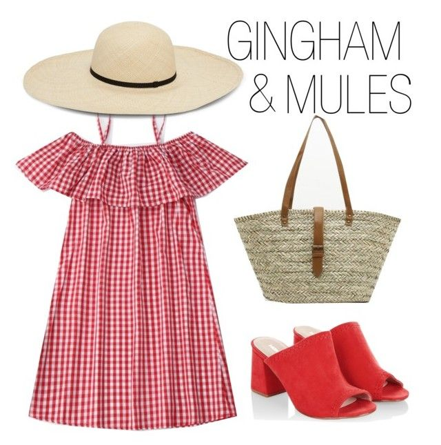 """""""GINGHAM AND MULES"""" by my-kitsch-world ❤ liked on Polyvore featuring Monsoon"""