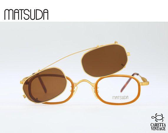 Matsuda 10403 GP, Vintage 90s eyeglasses and clip on