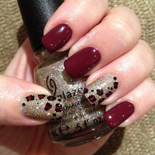 @Tegan Jean | China Glaze Purr-Fect Plum and I'm Not Lion #chinaglaze #onsafari #nailpolish | Webstagram - the best Instagram viewer