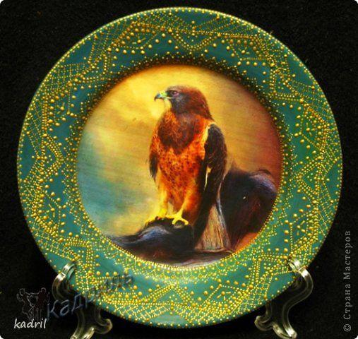 Декор предметов Декупаж Лепка Роспись Старые тарелки - в дело Краска Стекло Фарфор холодный фото 5