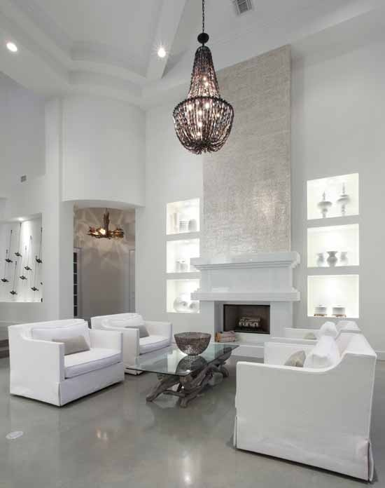11 best images about grey stained concrete floors on pinterest floors gray and stamped concrete - Contemporary living room decorating ideas to put your heart and soul in it ...