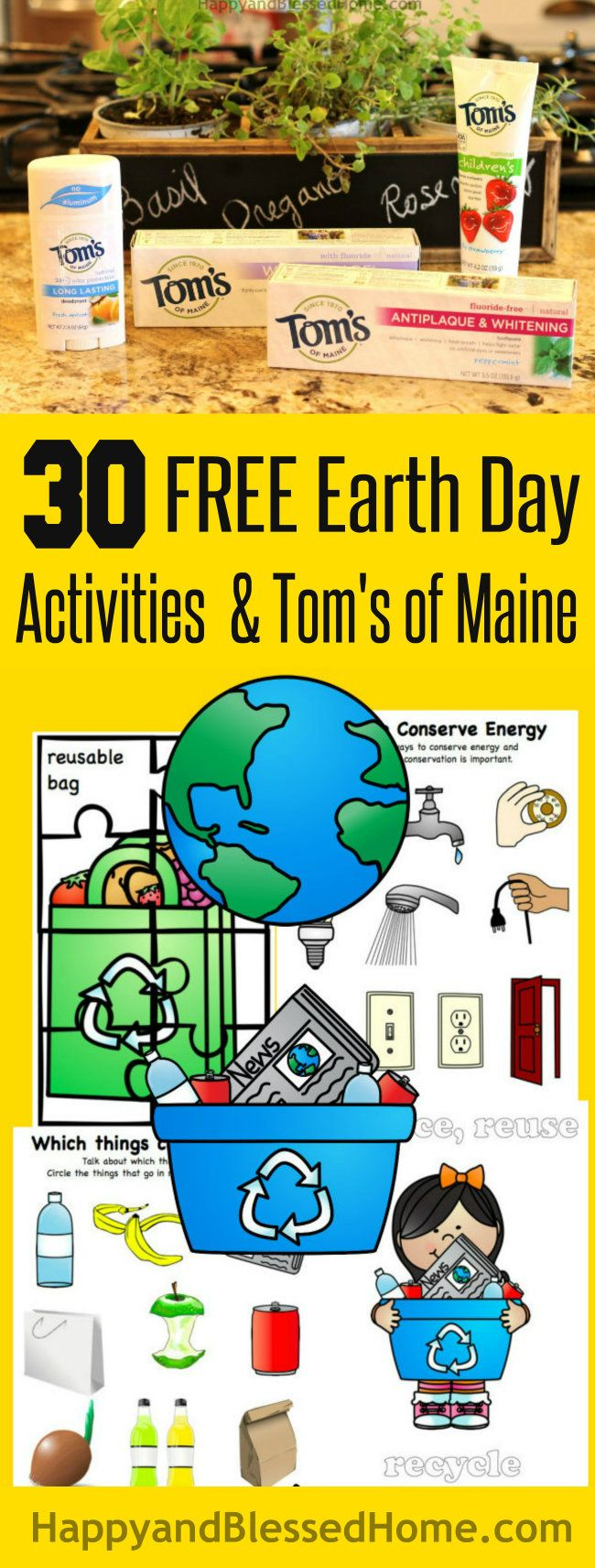 Reduce reuse recycle activities - 30 Pages Of Free Earth Day Activities For Kids With Free Earth Day Worksheets With Puzzles