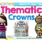 Adorable thematic crowns in English to increase vocabulary skills, create math patterns, identify the beginning sounds in words, read and write the...