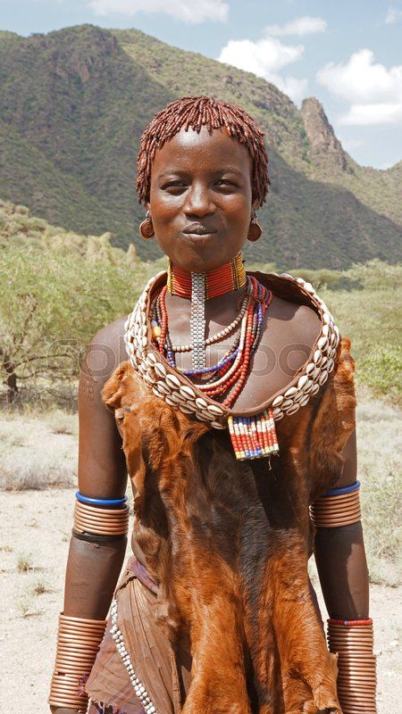 Editorial image of 'TURMI, ETHIOPIA - NOVEMBER 18, 2014: Young Hamer girl with traditional clothings and hairstyle on November 18, 2014 in Turmi, Ethiopia.'  https://www.colourbox.com/image/hamer-ethiopia-africa-image-24056236