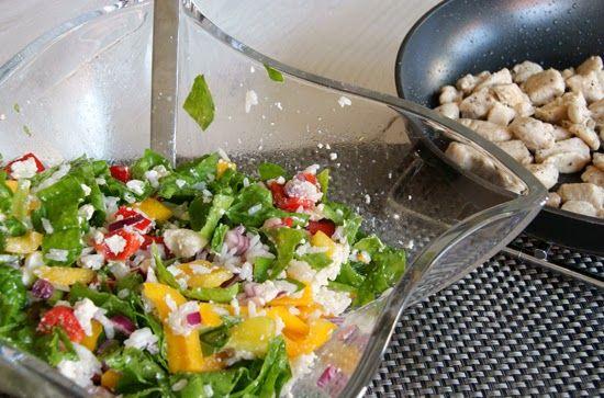 Recept || Spinaziesalade met paprika, feta en rijst