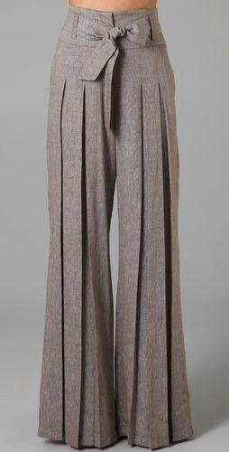 Pleated high waisted pants