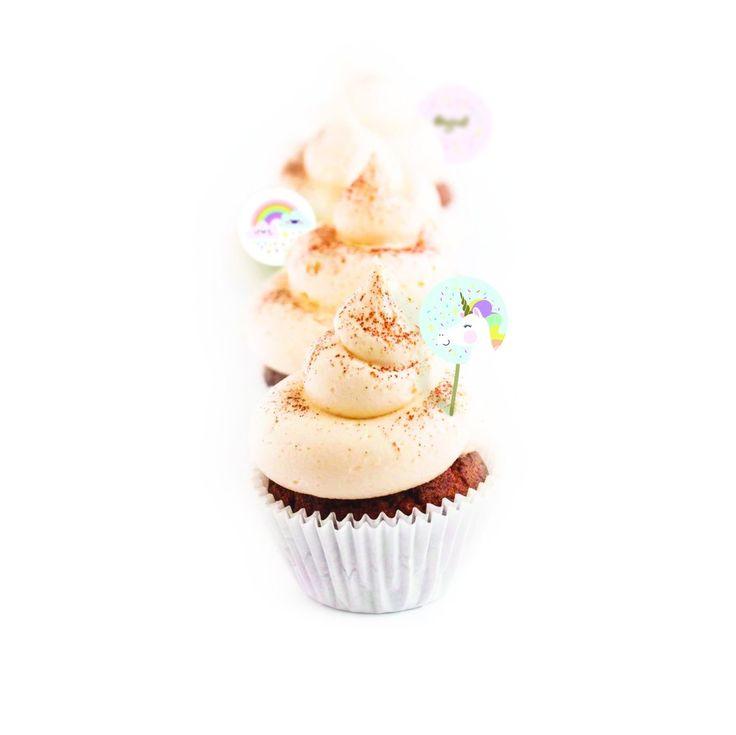 Rainbow Unicorn Cupcake Toppers – Lucky Lulu Party Shop