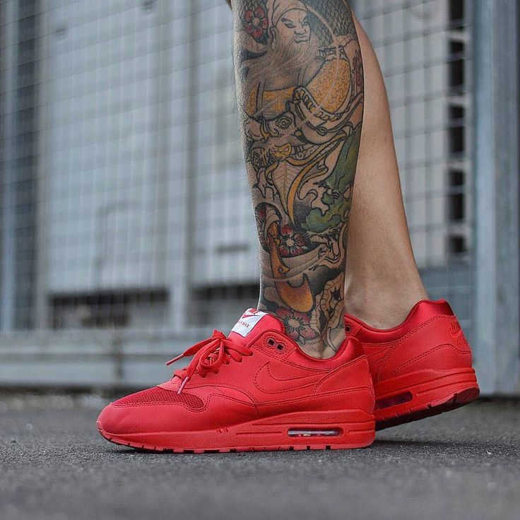 air max 1 anniversary red on feet nz