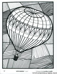 Printabel Coloring Sheet Hot Air Balloon