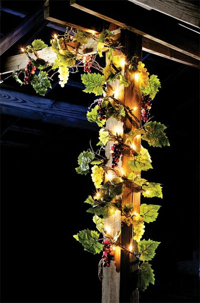 Led String Lighting Outdoor Lighted Grape Garland. This Would Be Perfect For The Kitchen Or The Patio. | Christmas Lighting
