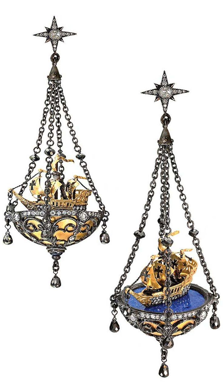 Armenta Sueno 18k Necklace With Labradorite Beads Amp Diamond Scrolls In - Arman sarkisyan earrings