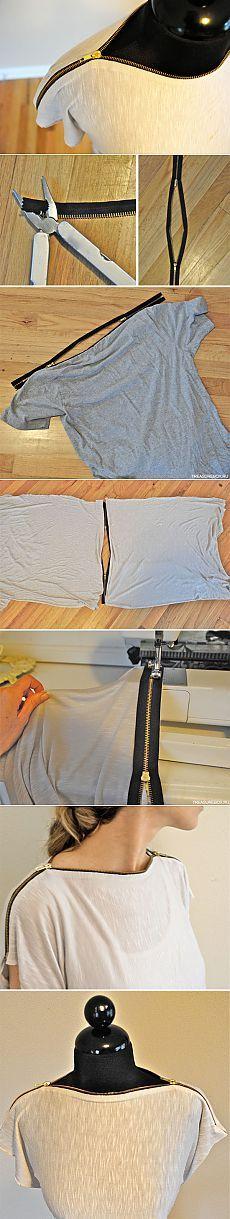 Переделка футболки | Рукоделие | Treasurebox - пошаговые мастер-классы