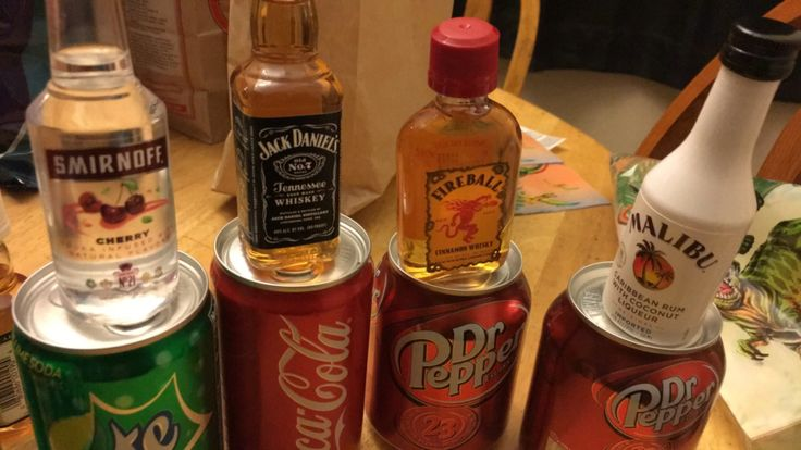 Pinned It, Did It: mini alcohol bottles with their soda equivalent for party favors!! Athena's birthday<3:-)