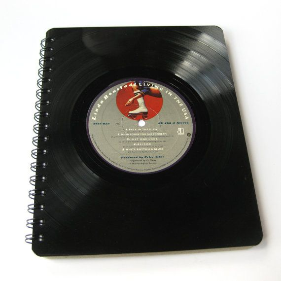 Record Journal & Sketchbook // Recycled Vinyl by MeowKapowShop, $24.00