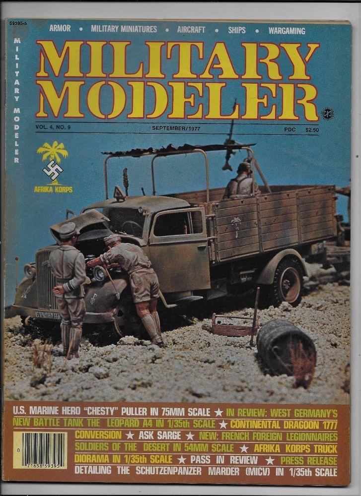 Military Modeler vol. 4 no. 9 September 1977 Chesty Puller Leopard A4 Dragoon