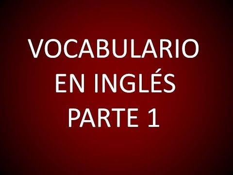 Inglés Americano - Lección 8 - Vocabulario 1 - YouTube