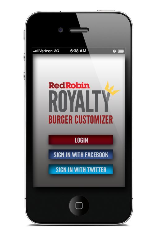 Red Robin Loyalty Phone App on Behance   Michelle Luttman