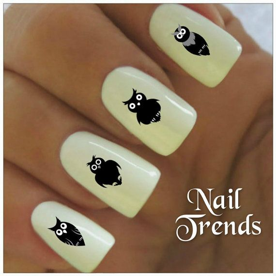 Owl Vinyl Nail Stickers, Nail Art Decals