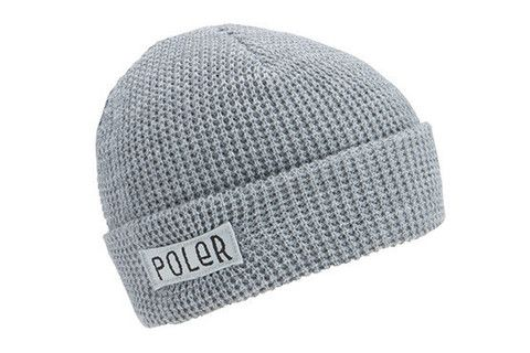 Poler Worker Man Beanie - Light Grey Heather www.westgoods.co