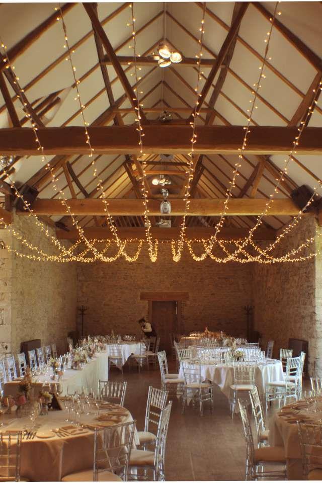 Fairy light canopy, wedding lighting at Notley Abbey