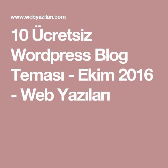 10 Ücretsiz Wordpress Blog Teması - Ekim 2016 - Web Yazıları