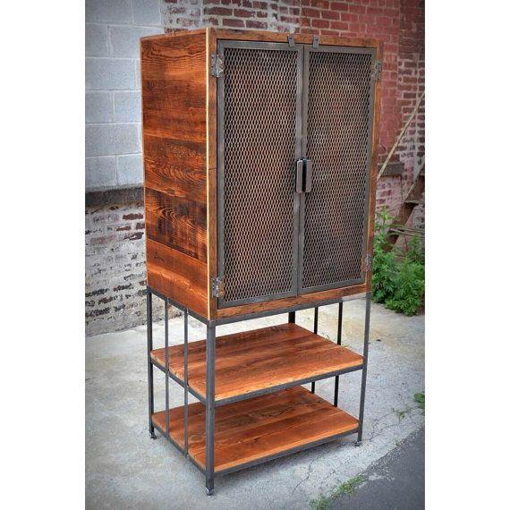 Armario hierro madera y materia prima reciclada - Armarios abiertos baratos ...