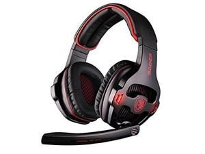 SADES SA903 Stereo Gaming Headset 7.1 Surround Sound USB PC Headphone with Microphone LED light Circumaural earphone
