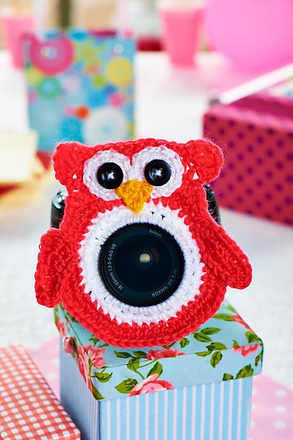 The kids will love having their photo taken with this Bear Lens Buddy and it's a FREE Crochet Pattern!
