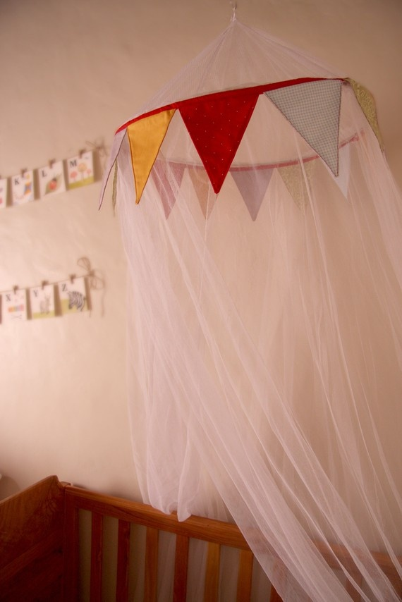 Items similar to Baby Nursery Cot Canopy Mosquito Net with Bunting on Etsy & Best 25+ Cot canopy ideas on Pinterest | Canopy crib Baby room ...