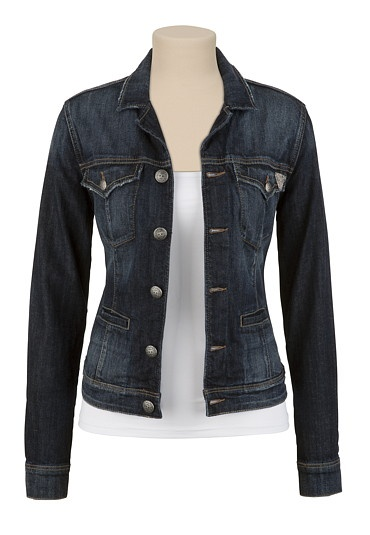 The never ending search for a nice, fitted jean jacket.  Always seem so boxy when I try them on.