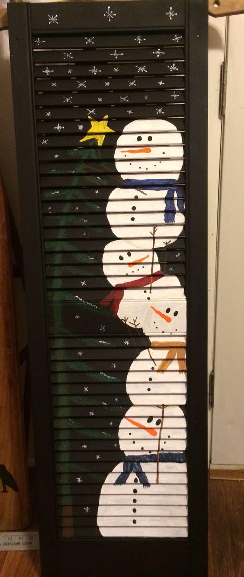 Snowman shutter