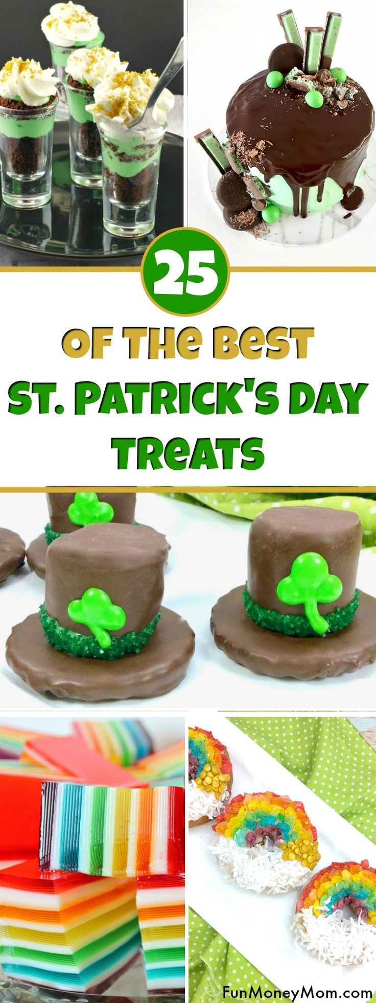 St. Patrick's Day Treat Ideas - Looking for the best St. Patrick's Day recipes? From rainbow food to marshmallow leprechaun hats, these yummy St. Patrick's Day recipes will have you covered. #StPatricksDay #StPatricksDayFood #StPatricksDayTreats #rainbowfood via @funmoneymom