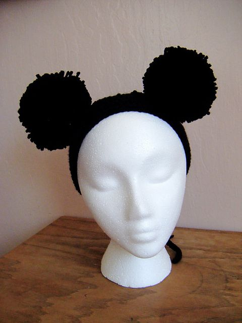 Black puffball headband for sale in my Etsy shop: https://www.etsy.com/listing/100599210/black-puff-ball-headband?ref=shop_home_active_12