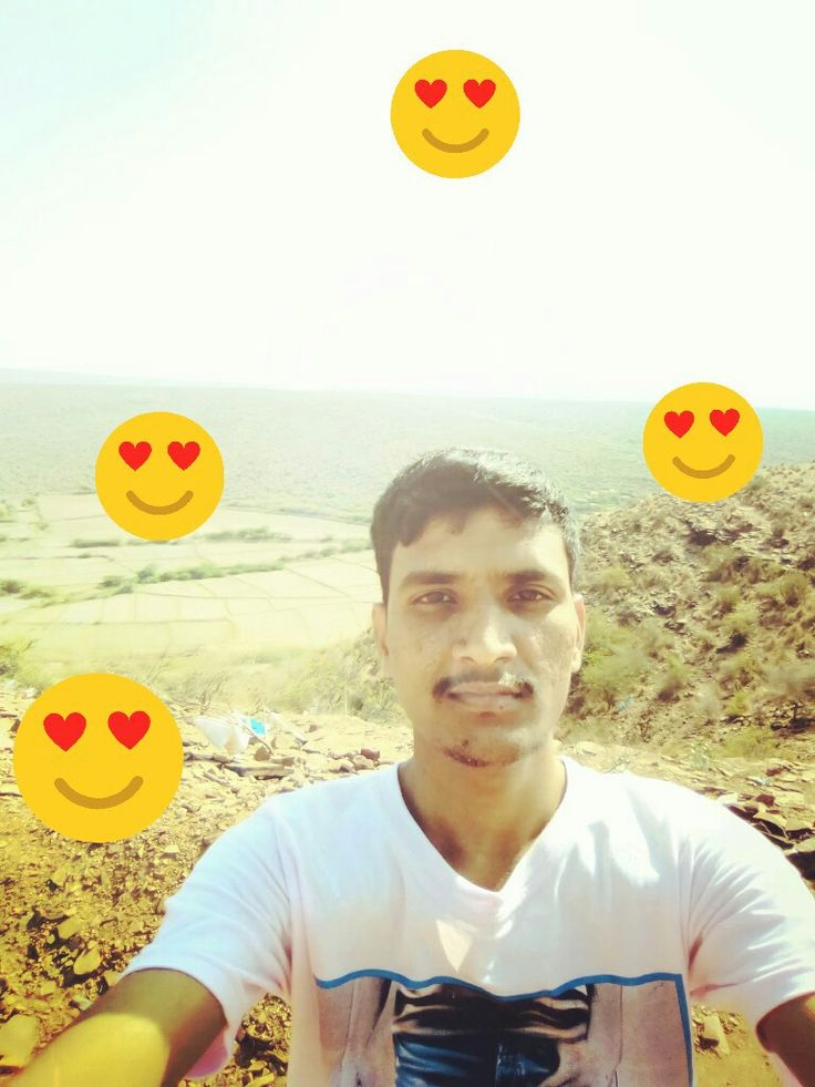 A stylish view impression hill top selfie